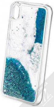 Vennus Liquid Pearl ochranný kryt s přesýpacím efektem třpytek pro Huawei Y5 (2019), Honor 8S tyrkysová (turquoise) zezadu