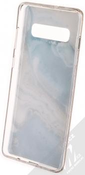 Vennus Stone Case ochranný kryt pro Samsung Galaxy S10 Plus modrý achát (blue agate) zepředu
