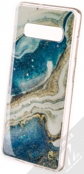 Vennus Stone Case ochranný kryt pro Samsung Galaxy S10 Plus modrý achát (blue agate)
