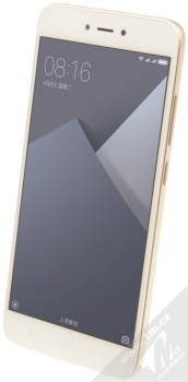 XIAOMI REDMI NOTE 5A 2GB/16GB Global Version CZ LTE zlatá (gold) šikmo zepředu