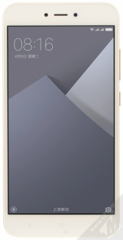 XIAOMI REDMI NOTE 5A 2GB/16GB Global Version CZ LTE zlatá (gold) zepředu