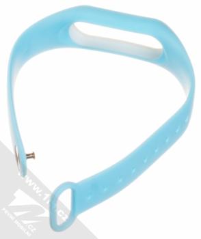 Xiaomi Strap silikonový pásek na zápěstí pro Xiaomi Mi Band 2 světle modrá (light blue) rozepnuté