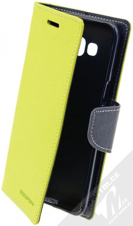 Goospery Fancy Diary flipové pouzdro pro Samsung Galaxy Grand Prime  limetkově zeleno modrá (lime   f5fae9e70a9