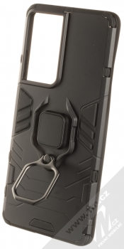 1Mcz Armor Ring odolný ochranný kryt s držákem na prst pro Samsung Galaxy S21 Ultra černá (black) držák