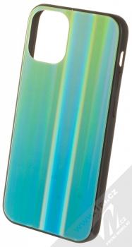 1Mcz Aurora Glass Cover ochranný kryt pro Apple iPhone 12 mini měnivě zelená mátově zelená (iridescent