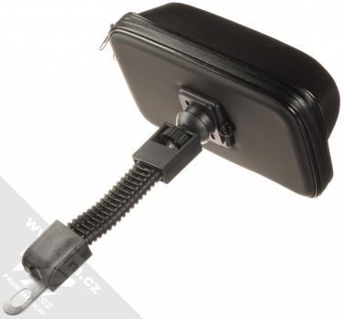 1Mcz Bike Holder Shielded odolná brašna s kšiltem a držákem na kolo, motocykl pro mobilní telefon od 5,5 do 7,0 palců černá (black) přímý držák