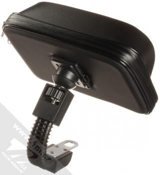 1Mcz Bike Holder Shielded odolná brašna s kšiltem a držákem na kolo, motocykl pro mobilní telefon od 5,5 do 7,0 palců černá (black) zezadu