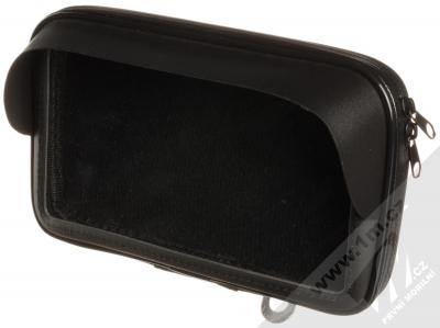 1Mcz Bike Holder Shielded odolná brašna s kšiltem a držákem na kolo, motocykl pro mobilní telefon od 5,5 do 7,0 palců černá (black)