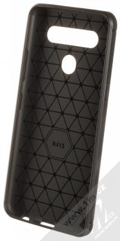 1Mcz Carbon TPU ochranný kryt pro LG K41s, LG K51s černá (black) zepředu