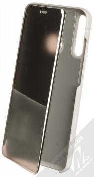 1Mcz Clear View flipové pouzdro pro Huawei P40 Lite E stříbrná (silver)