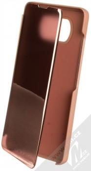 1Mcz Clear View flipové pouzdro pro Xiaomi Poco X3 NFC, Poco X3 Pro růžová (pink)