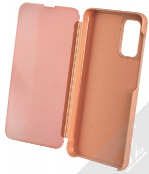 1Mcz Clear View flipové pouzdro pro Samsung Galaxy A32 5G růžová (pink) otevřené