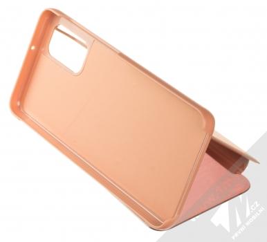 1Mcz Clear View flipové pouzdro pro Samsung Galaxy A32 5G růžová (pink) stojánek