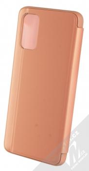 1Mcz Clear View flipové pouzdro pro Samsung Galaxy A32 5G růžová (pink) zezadu