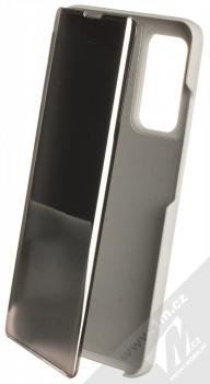 1Mcz Clear View flipové pouzdro pro Xiaomi Mi 10T 5G, Mi 10T Pro 5G stříbrná (silver)