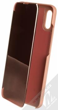 1Mcz Clear View flipové pouzdro pro Xiaomi Redmi 9A, Redmi 9AT růžová (pink)