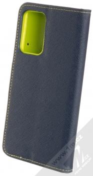 1Mcz Fancy Book flipové pouzdro pro Samsung Galaxy A52, Galaxy A52 5G modrá limetkově zelená (blue lime) zezadu