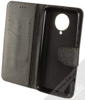 1Mcz Fancy Book flipové pouzdro pro Xiaomi Poco F2 Pro černá (black) otevřené