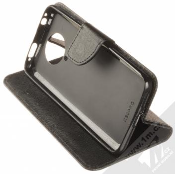 1Mcz Fancy Book flipové pouzdro pro Xiaomi Poco F2 Pro černá (black) stojánek