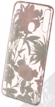 1Mcz Floral TPU Záhon ostálek, jiřin a růží ochranný kryt pro Samsung Galaxy A20s průhledná (transparent) zepředu