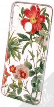 1Mcz Floral TPU Záhon ostálek, jiřin a růží ochranný kryt pro Samsung Galaxy A20s průhledná (transparent)