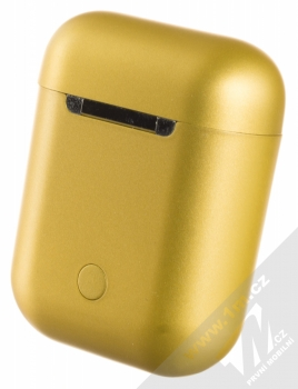 1Mcz i12 inPods Eleven TWS Bluetooth stereo sluchátka zlatá (gold) nabíjecí pouzdro zezadu