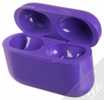 1Mcz i20 AirPro TWS Bluetooth stereo sluchátka fialová (violet) nabíjecí pouzdro otevřené