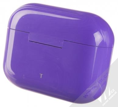 1Mcz i20 AirPro TWS Bluetooth stereo sluchátka fialová (violet) nabíjecí pouzdro zezadu
