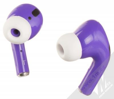 1Mcz i20 AirPro TWS Bluetooth stereo sluchátka fialová (violet)