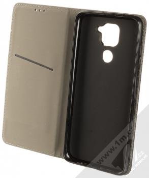 1Mcz Magnet Book Color flipové pouzdro pro Xiaomi Redmi Note 9 černá (black) otevřené