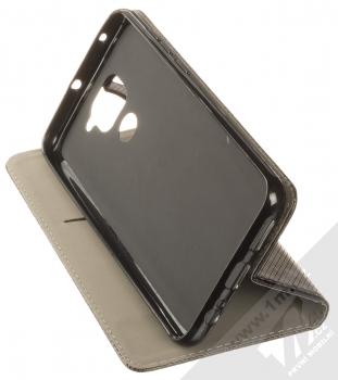 1Mcz Magnet Book Color flipové pouzdro pro Xiaomi Redmi Note 9 černá (black) stojánek