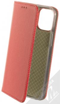 1Mcz Magnet Book flipové pouzdro pro Apple iPhone 12 mini červená (red)