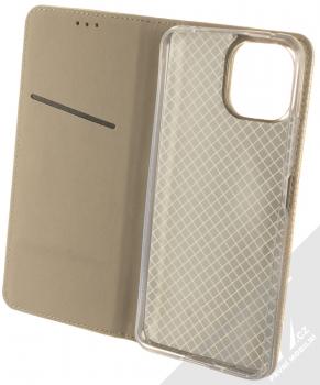 1Mcz Magnet Book flipové pouzdro pro Xiaomi Mi 11 Lite, Mi 11 Lite 5G zlatá (gold) otevřené