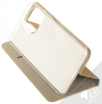 1Mcz Magnet Book flipové pouzdro pro Xiaomi Mi 11 Lite, Mi 11 Lite 5G zlatá (gold) stojánek