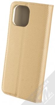 1Mcz Magnet Book flipové pouzdro pro Xiaomi Mi 11 Lite, Mi 11 Lite 5G zlatá (gold) zezadu