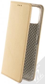 1Mcz Magnet Book flipové pouzdro pro Xiaomi Mi 11 Lite, Mi 11 Lite 5G zlatá (gold)