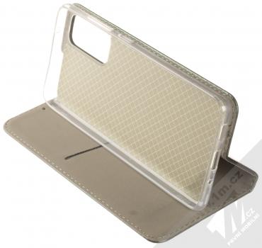 1Mcz Magnetic Book flipové pouzdro pro Samsung Galaxy S20 FE tmavě zelená (dark green) stojánek