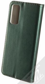 1Mcz Magnetic Book flipové pouzdro pro Samsung Galaxy S20 FE tmavě zelená (dark green) zezadu