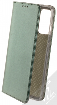 1Mcz Magnetic Book flipové pouzdro pro Samsung Galaxy S20 FE, Galaxy S20 FE 5G tmavě zelená (dark green)