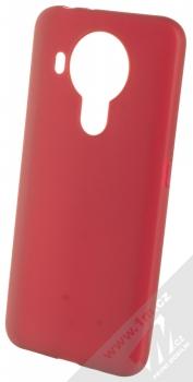 1Mcz Matt TPU ochranný silikonový kryt pro Nokia 5.4 tmavě červená (dark red)