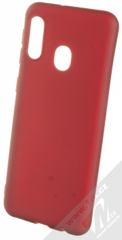 1Mcz Matt TPU ochranný kryt pro Samsung Galaxy A20e tmavě červená (dark red)