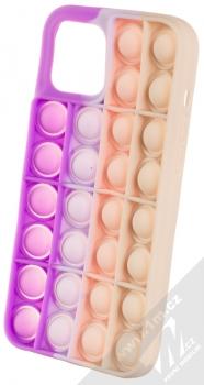 1Mcz Pop It antistresový ochranný kryt pro Apple iPhone 12 Pro Max fialová růžová béžová (purple pink beige)