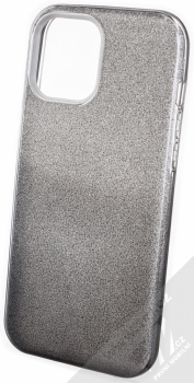1Mcz Shining Duo TPU třpytivý ochranný kryt pro Apple iPhone 12 Pro Max stříbrná černá (silver black)