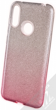 1Mcz Shining Duo TPU třpytivý ochranný kryt pro Huawei Y7 (2019) stříbrná růžová (silver pink)