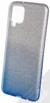 1Mcz Shining Duo TPU třpytivý ochranný kryt pro Samsung Galaxy A12, Galaxy M12 stříbrná modrá (silver blue)