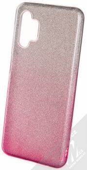 1Mcz Shining Duo TPU třpytivý ochranný kryt pro Samsung Galaxy A32 5G stříbrná růžová (silver pink)