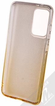 1Mcz Shining Duo TPU třpytivý ochranný kryt pro Samsung Galaxy A52, Galaxy A52 5G stříbrná zlatá (silver gold) zepředu
