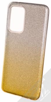 1Mcz Shining Duo TPU třpytivý ochranný kryt pro Samsung Galaxy A52, Galaxy A52 5G stříbrná zlatá (silver gold)