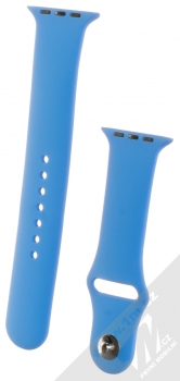 1Mcz Silikonový sportovní řemínek pro Apple Watch 42mm, Watch 44mm chrpově modrá (cornflower blue)