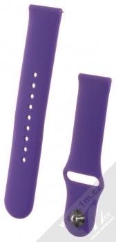 1Mcz Silikonový sportovní řemínek s univerzální osičkou 22mm fialová (violet)